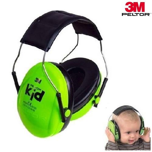 Laste kõrvakaitsed 3M Peltor Kid Neoonroheline