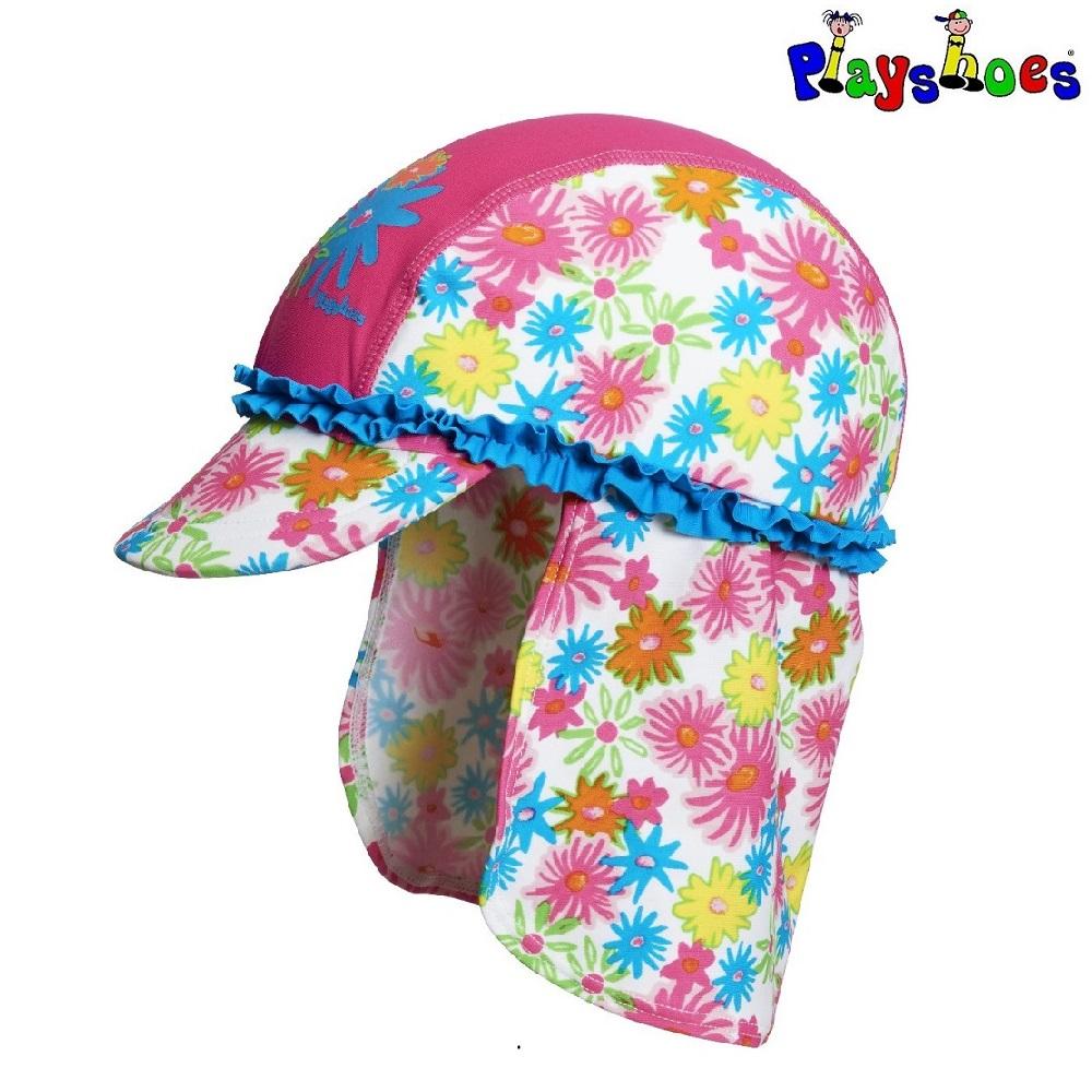 Laste UV-kaitsega päikesemüts Playshoes Pink Flowers
