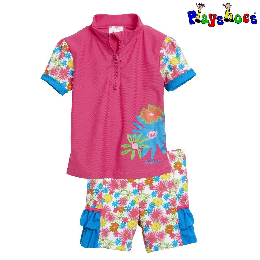 Laste UV-Kaitsega ujumisriided Playshoes Flowers