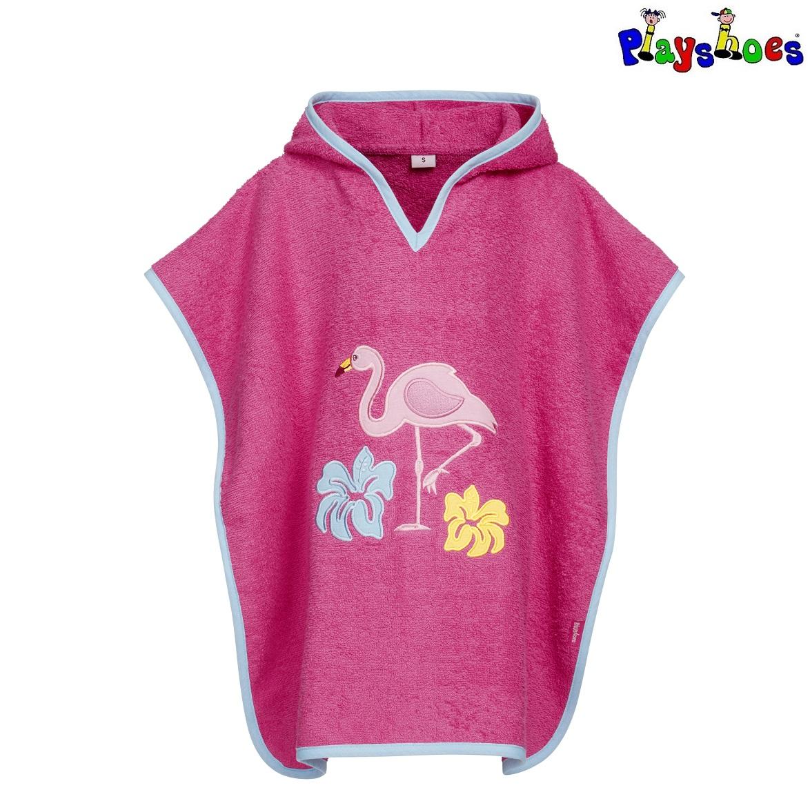 Badponcho barn Playshoes Flamingo
