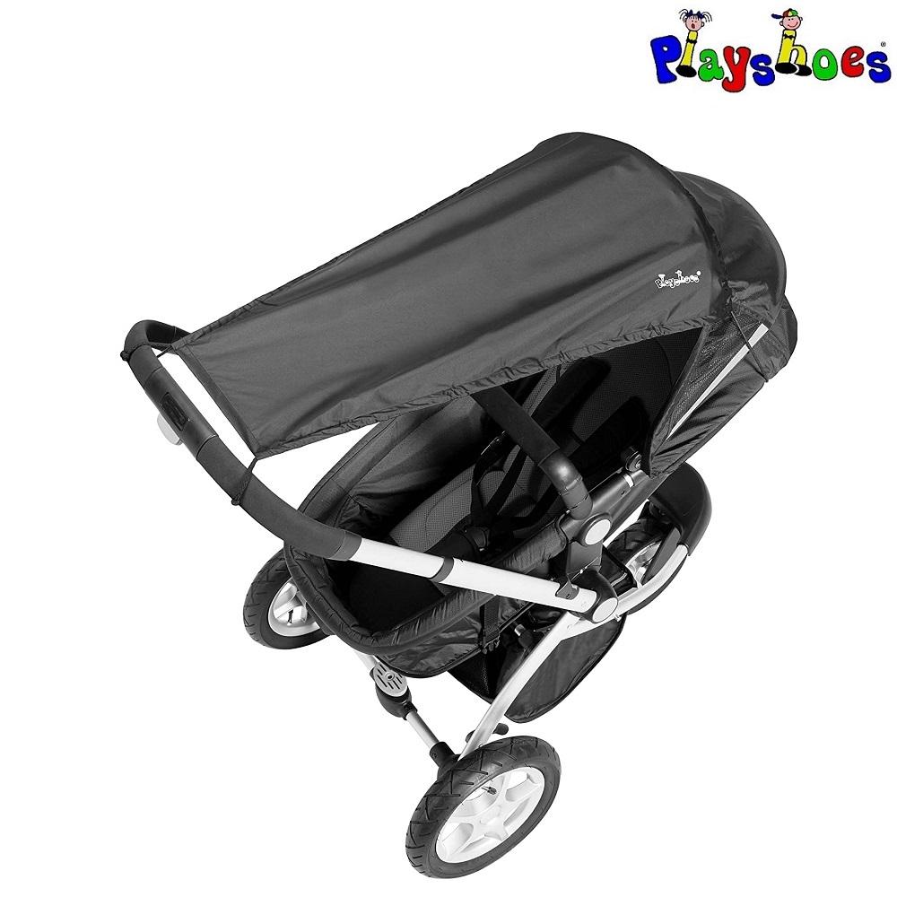 Solskydd barnvagn Playshoes Svart