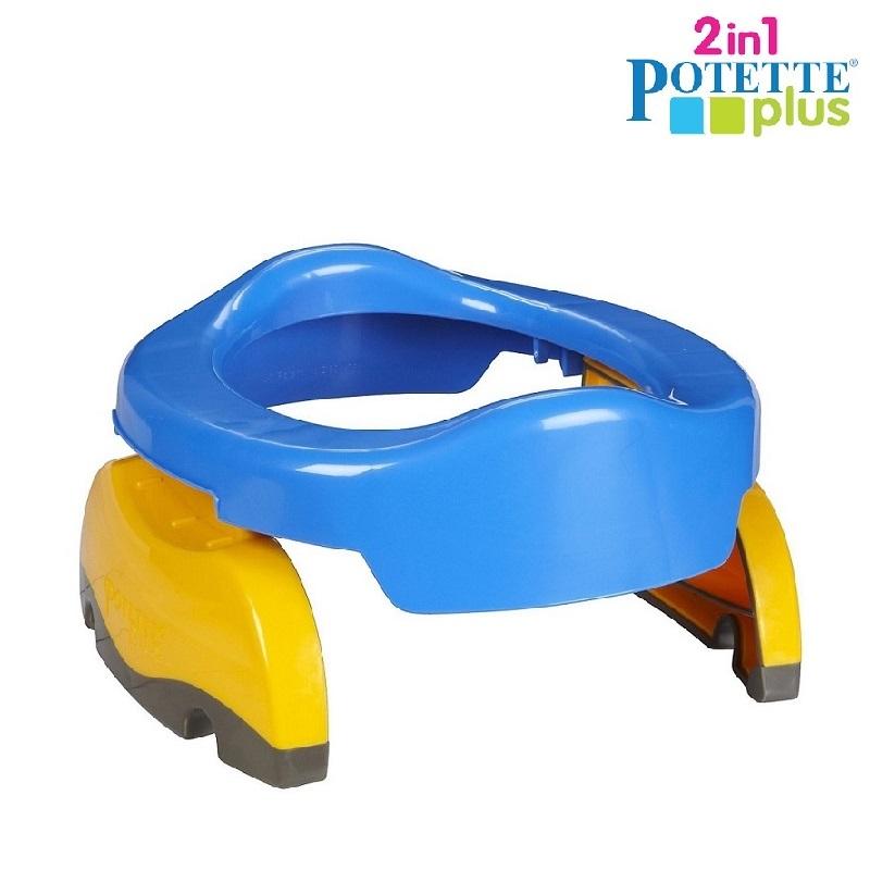 Kaasaskantav pissipott ja prill-laud Potette Plus Sinine