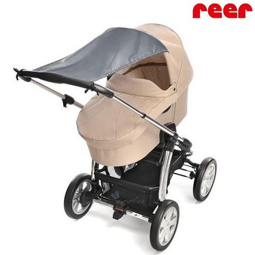 Solskydd barnvagn Reer grå