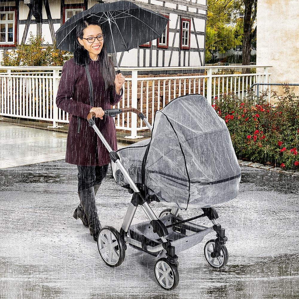 Regnskydd barnvagn Reer Classic Combi genonskinligt