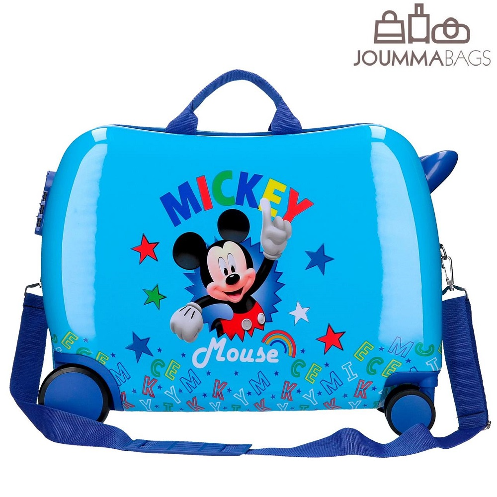 Resväska för barn att åka på Musse Pigg Stars
