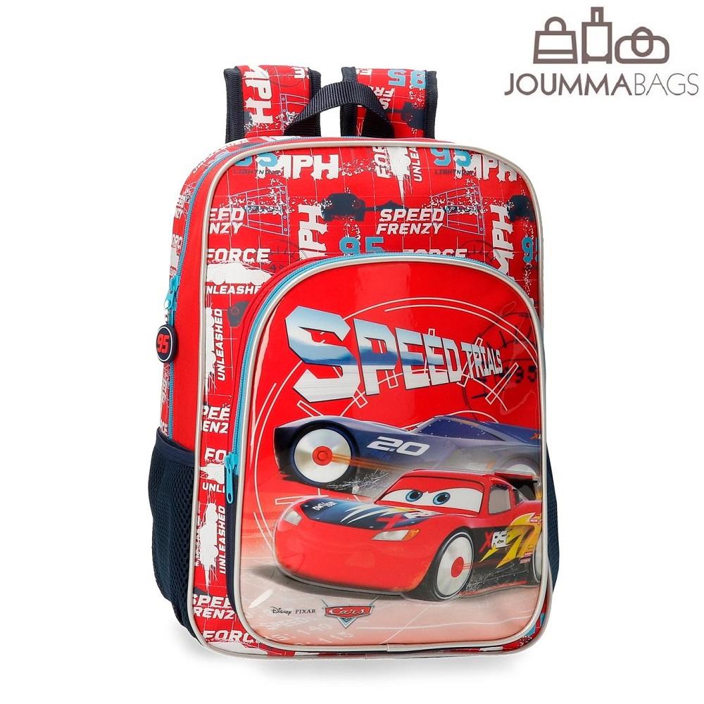 Ryggsäck barn Bilar Speed Trial röd