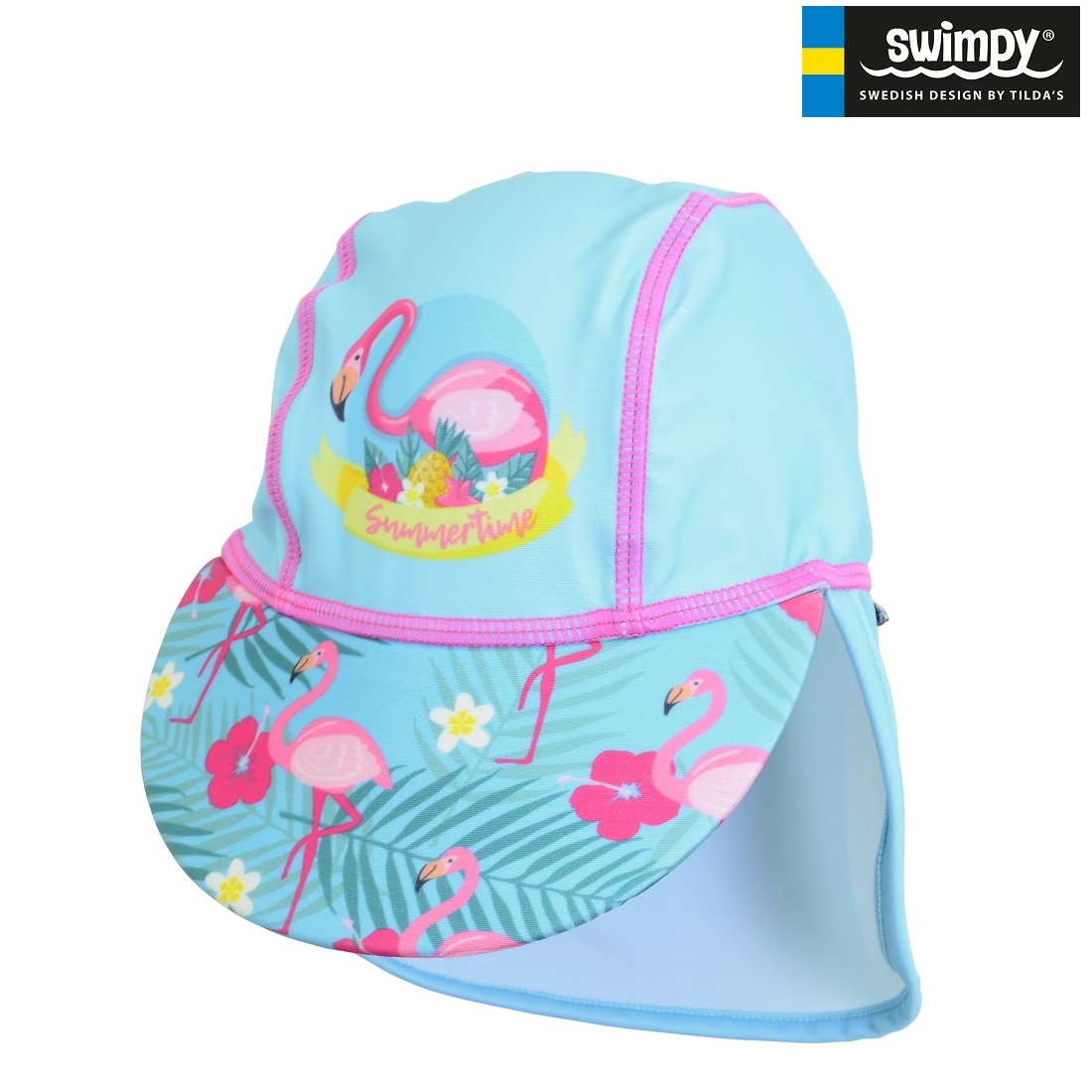 UV-hatt barn Swimpy Flamingo