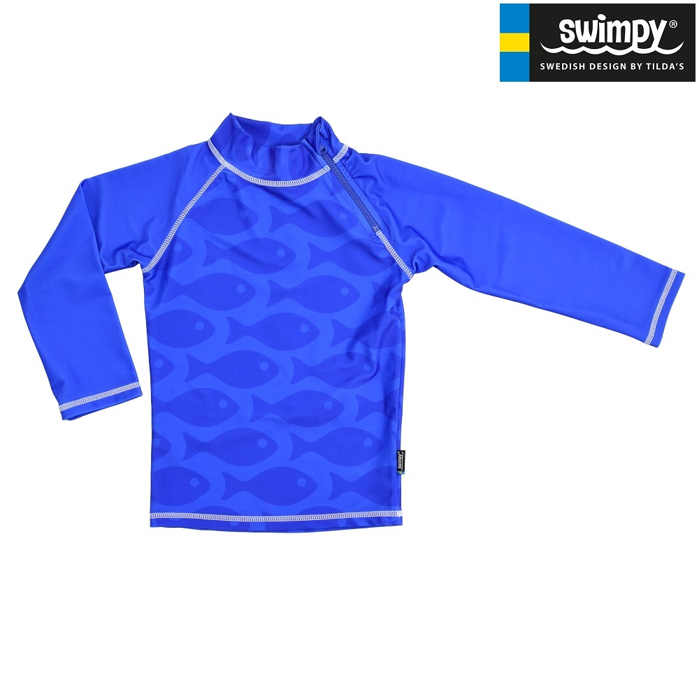 Swimpy UV-kaitsesärk - Solid Fish Blue