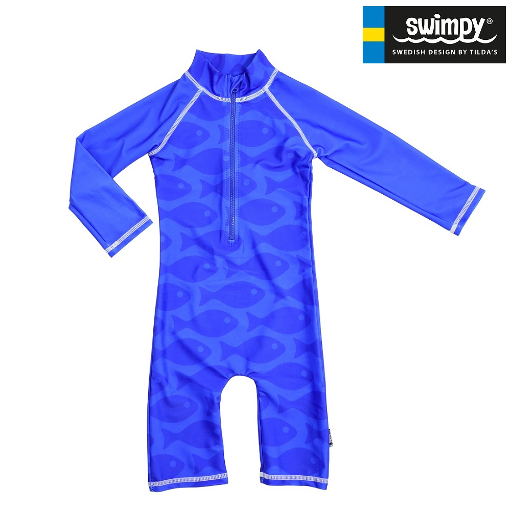 Swimpy UV-ujumistrikoo - Solid Fish Blue