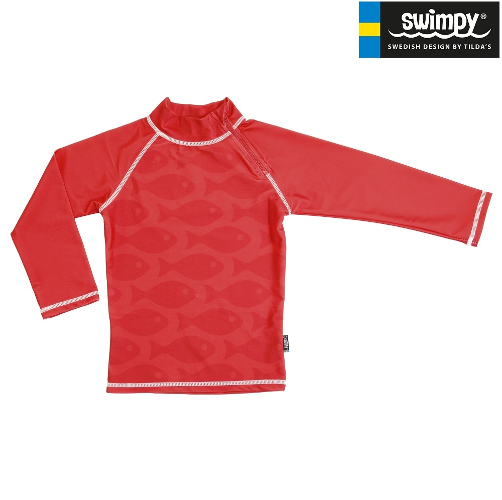 UV-tröja Swimpy Solid Fish Red