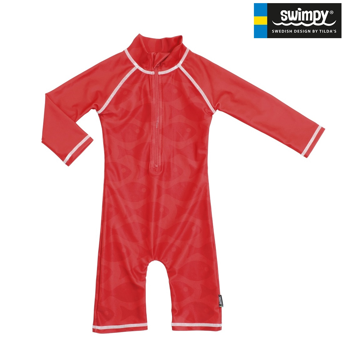 UV-dräkt Swimpy Solid Fish Red
