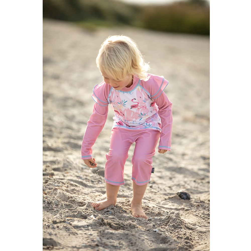 Laste ujumistrikoo Swimpy Flamingo roosa