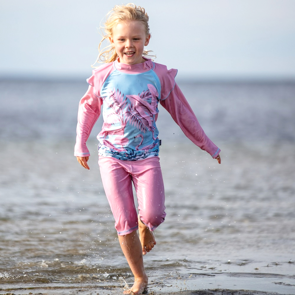 Laste UV-Kaitsega ujumisriided Swimpy Flamingo