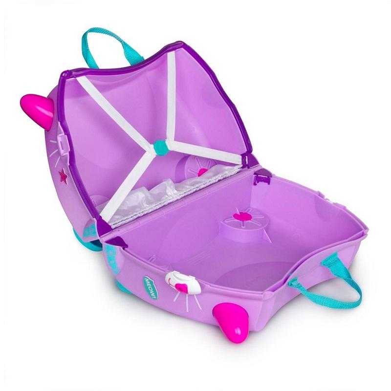 Pealistutav reisikohver lastele Trunki Cassie Cat lilla