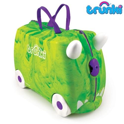 Pealistutav reisikohver lastele Trunki Dino Rex roheline