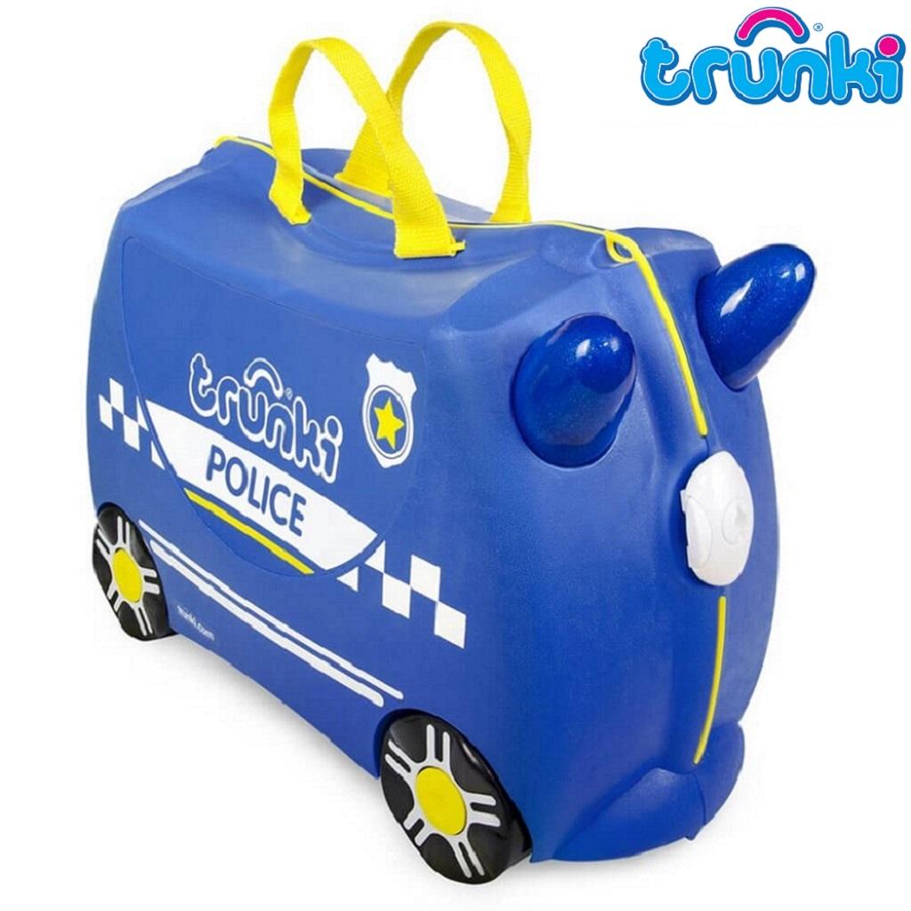 Pealistutav reisikohver lastele Trunki Percy Police Sinine