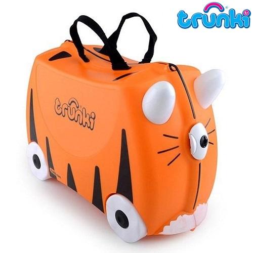 Pealistutav reisikohver lastele Trunki Tipu Tiger Oranz ja must