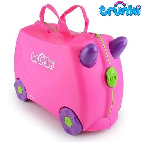 Pealistutav reisikohver lastele Trunki Trixie Roosa