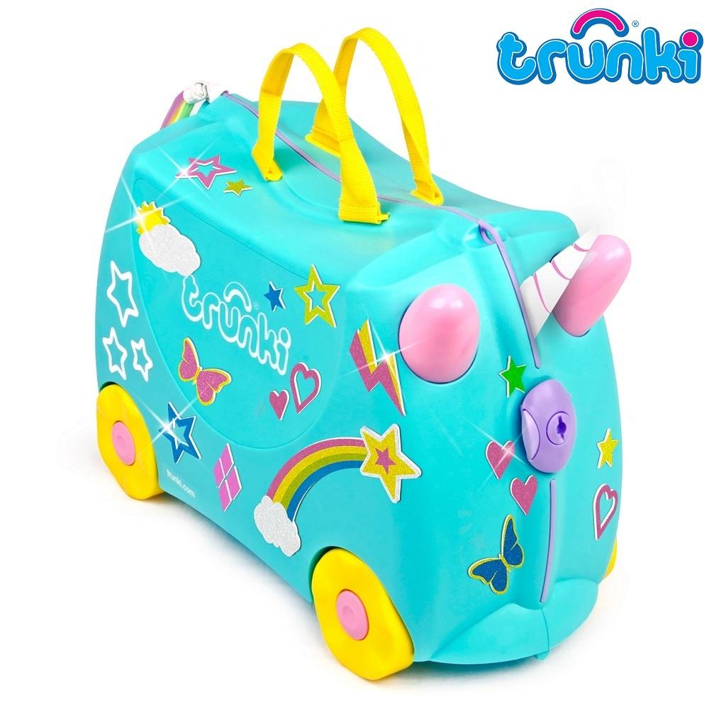 Pealistutav reisikohver lastele Trunki Unicorn türkiissinine